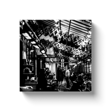 Load image into Gallery viewer, High Quality Paris Canvas Print - Saint Germain restaurant | Paris Noir & Blanc