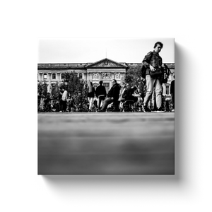 High Quality Paris Canvas Print - The Louvre From Pont Des Arts | Paris Noir & Blanc