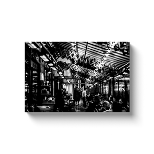 High Quality Paris Canvas Print - Saint Germain restaurant | Paris Noir & Blanc