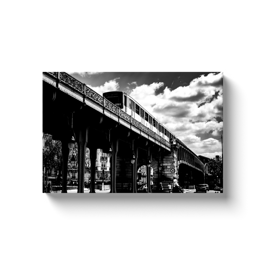 bir hakeim metro station paris canvas print