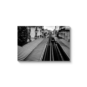 passy metro station paris canvas print