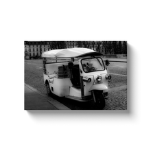 Load image into Gallery viewer, parisian tuk tuk canvas print