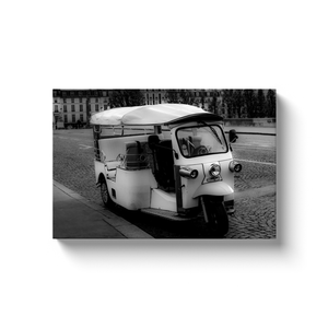 parisian tuk tuk canvas print