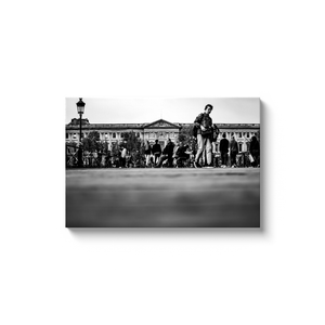 louvre pont des arts paris canvas print