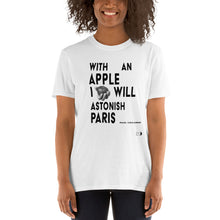 Load image into Gallery viewer, with an apple t-shirt