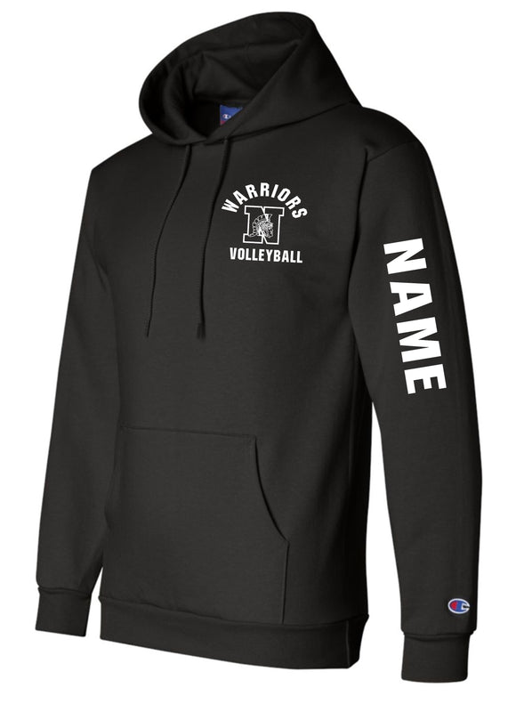WNHS Boys Volleyball Personalized Champion Brand Double Dry Eco Hoodie
