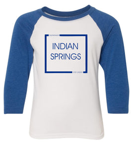 Indian Springs Youth 3/4-Sleeve Raglan Tee