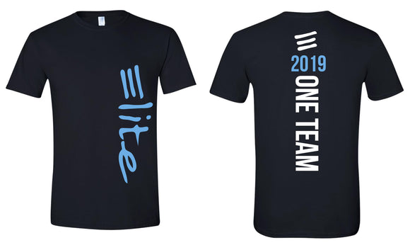 Elite Black ONE TEAM Youth & Adult T