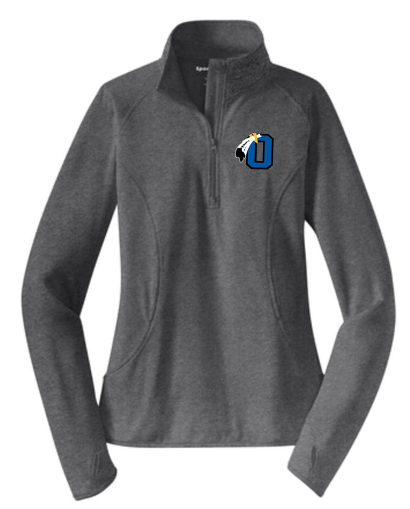 Braves Ladies Cut Performance 1/2 Zip
