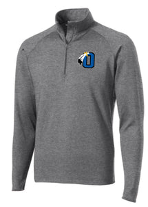 Braves Unisex Cut Performance Grey 1/4 Zip