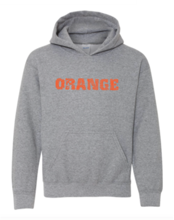 Orange Youth Hoodie