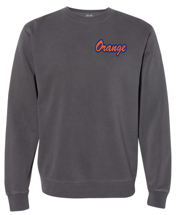 Orange Independent Pigment-Dyed Sweatshirt