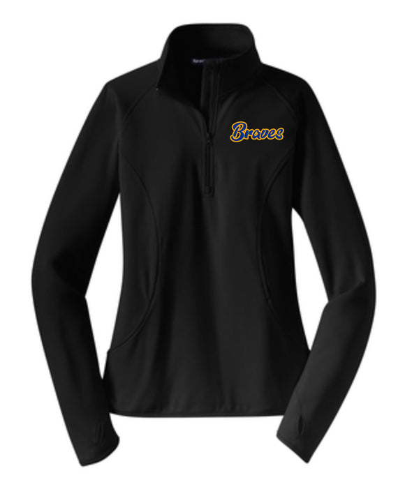 Braves Ladies Performance 1/4 Zip