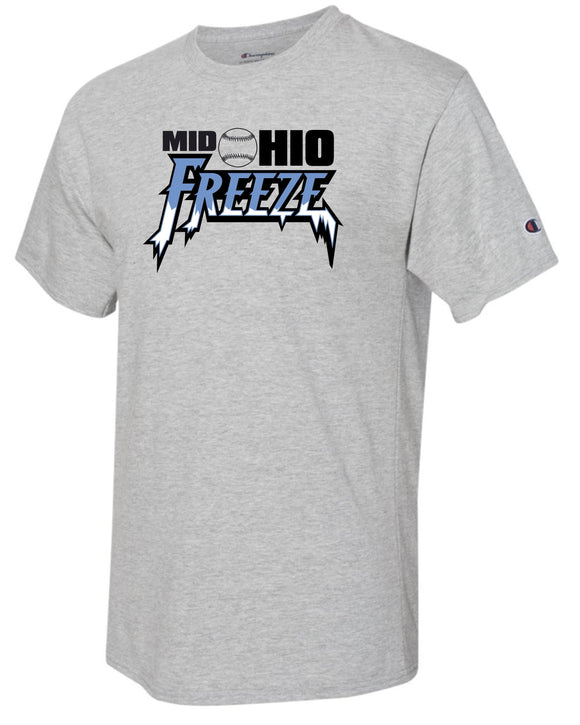 Mid Ohio Freeze CHAMPION S/S Tee in Oxford Grey