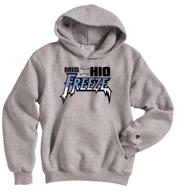 Mid Ohio Freeze Adult CHAMPION Double Dry Eco Hoodie in Silver Grey