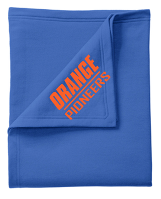 Orange Pioneers Sweatshirt Blanket - Royal Blue