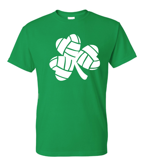 Irish Green St. Patty's LUCKY Volleyball T-Shirt