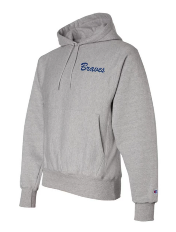 Braves Embroidered CHAMPION Reverse Weave Hoodie
