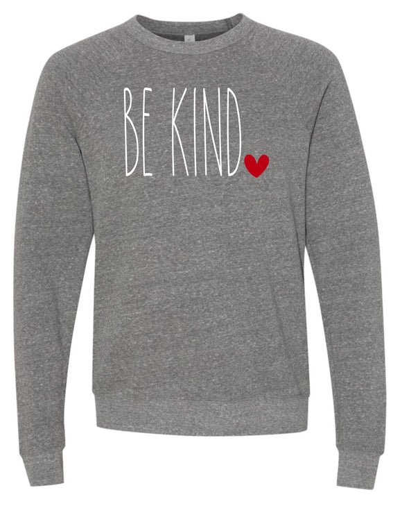 BE KIND Triblend Crew Super Soft Sweatshirt