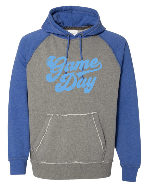Berlin Vintage Hooded Sweatshirt with Columbia Blue Game Day Logo