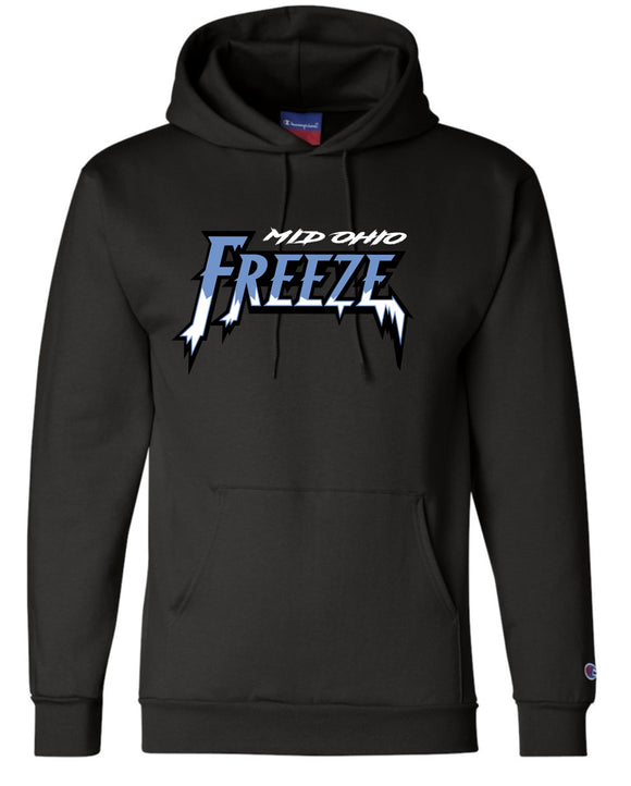 Mid Ohio Freeze Adult CHAMPION Double Dry Eco Hoodie in Black