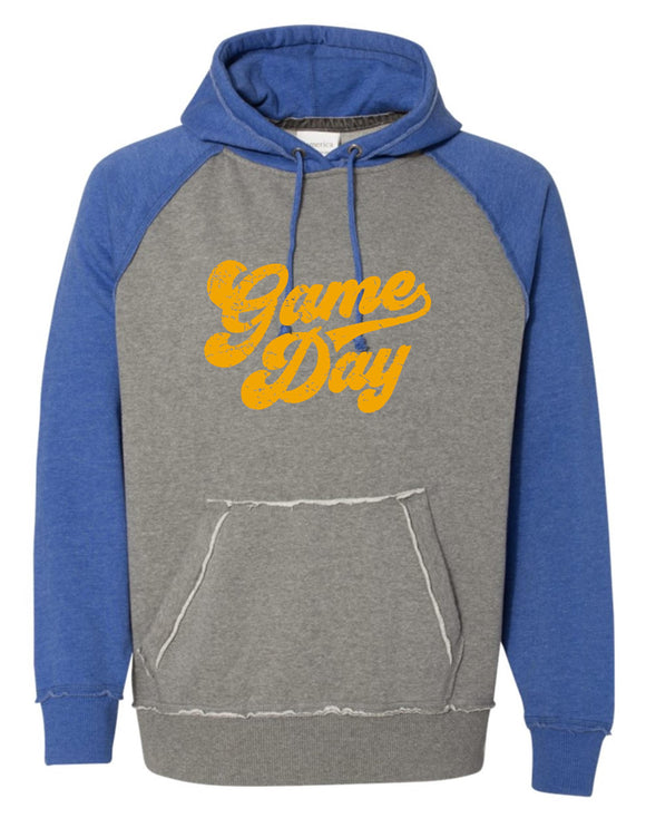 Braves Vintage Hooded Sweatshirt with Gold Game Day Logo
