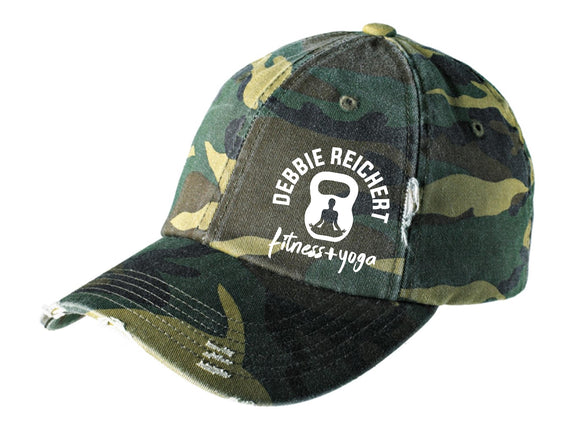 DRF Embroidered Camo District Distressed Cap