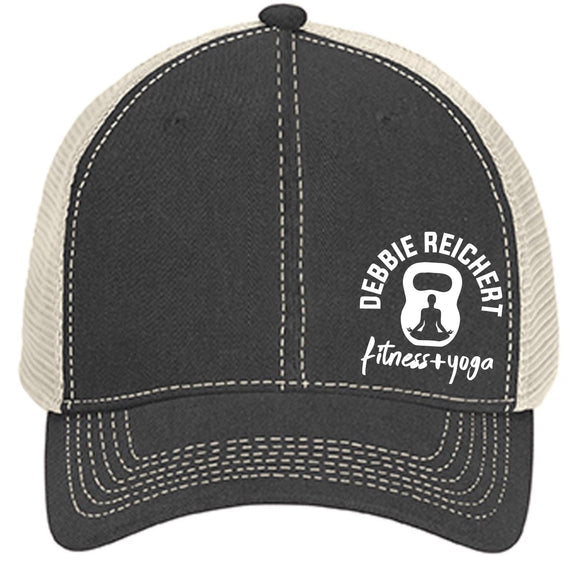 DRF Embroidered Graphite Mesh-Back Trucker Cap