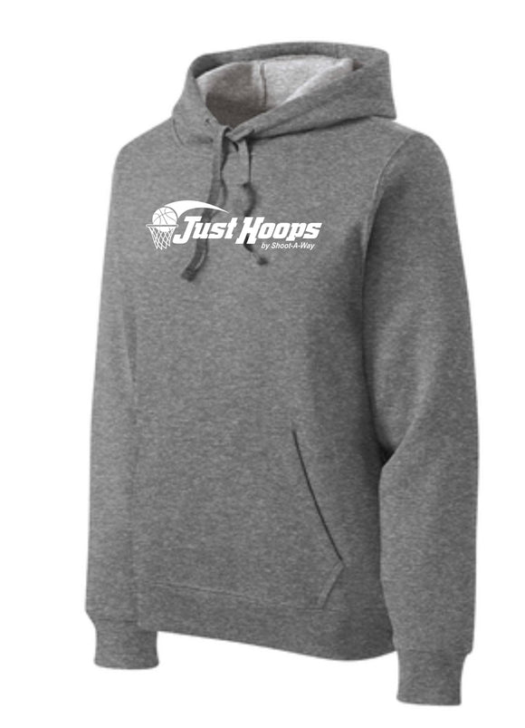 Just Hoops Youth and Adult Hoodie- Gray