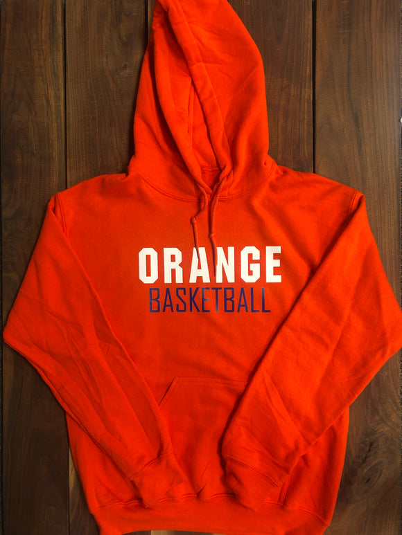 Orange Basketball Hoodie