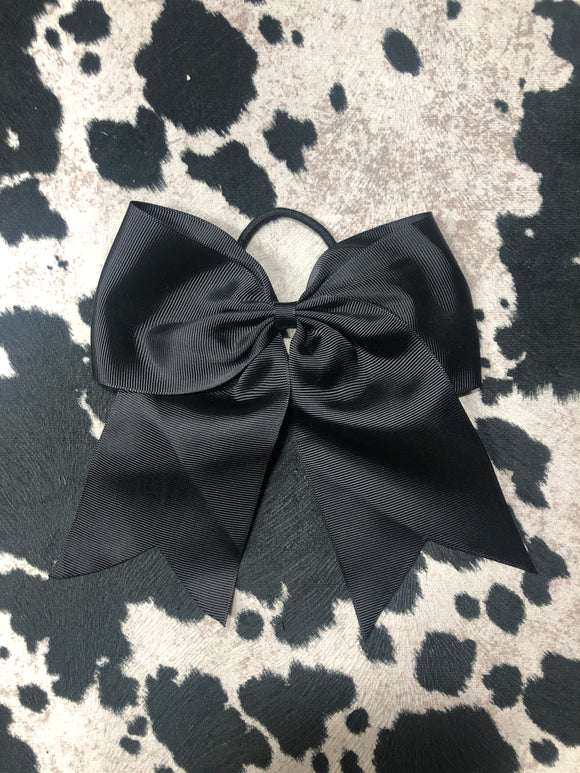 Black Cheer Bow