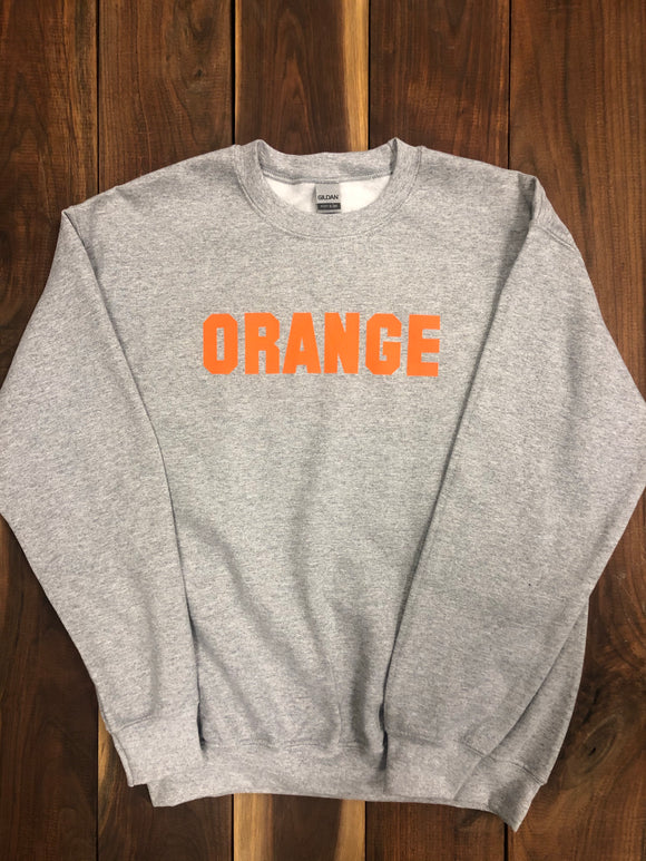 Orange Crewneck Sweatshirt