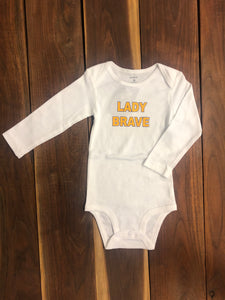 Braves Lady Brave Long Sleeve Onesie