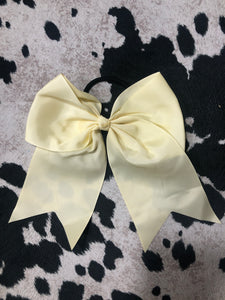 Pale Yellow Cheer Bow