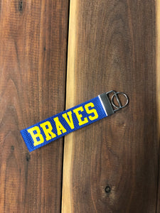 Braves Woven Keychain