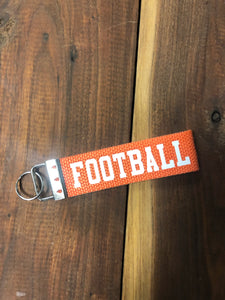 Orange Football Woven Keychain