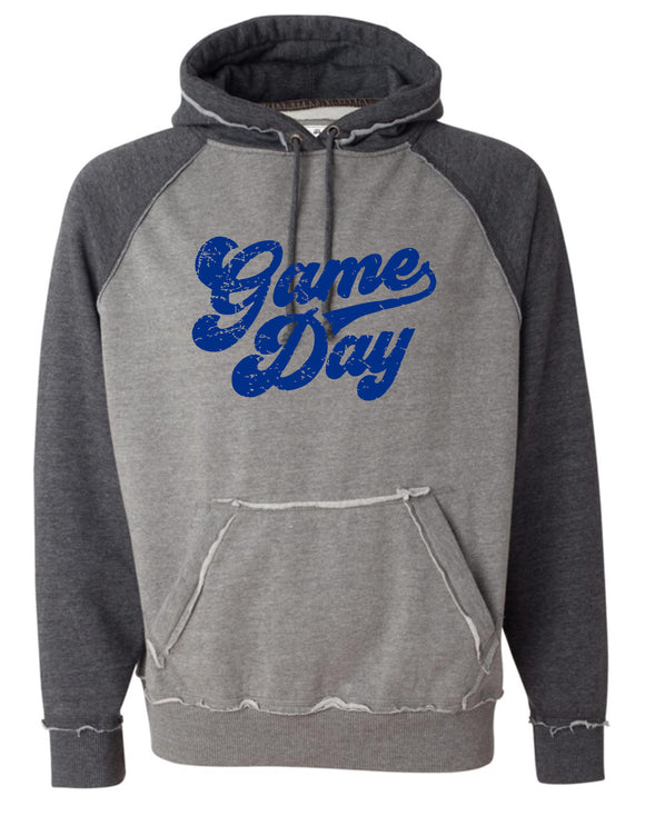 Liberty Vintage Hooded Sweatshirt with Royal Game Day Logo