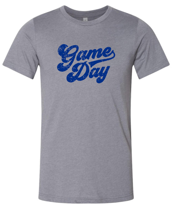 Liberty Storm Gray & Royal Super Soft Game Day T