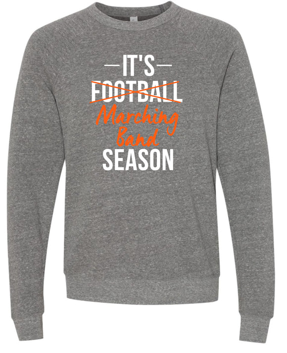 Marching Band Season Super Soft Crew- Gray