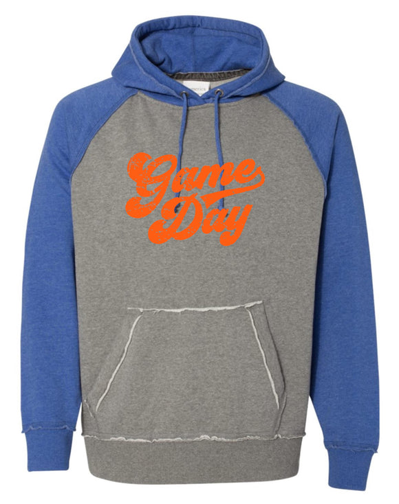 Orange Vintage Hooded Sweatshirt with Orange Game Day Logo