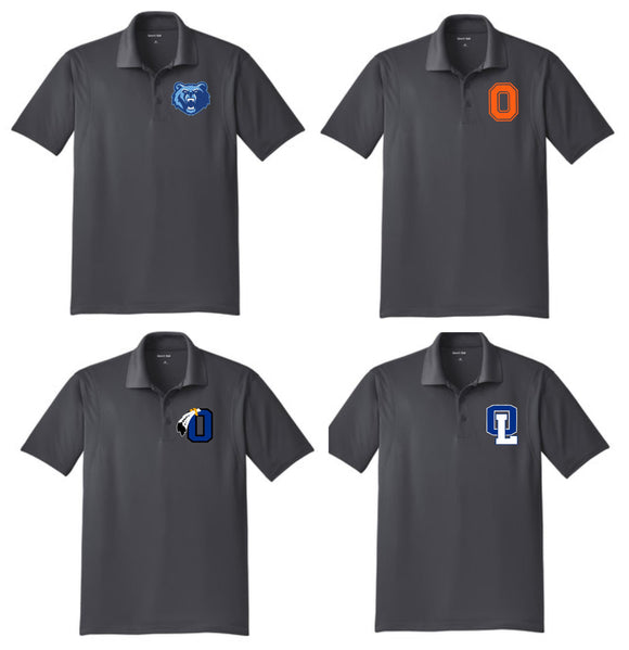 Performance Polo- Your Choice of Logo- Gray