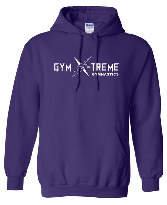Gym X-Treme Purple 50/50 White Logo Hoodie
