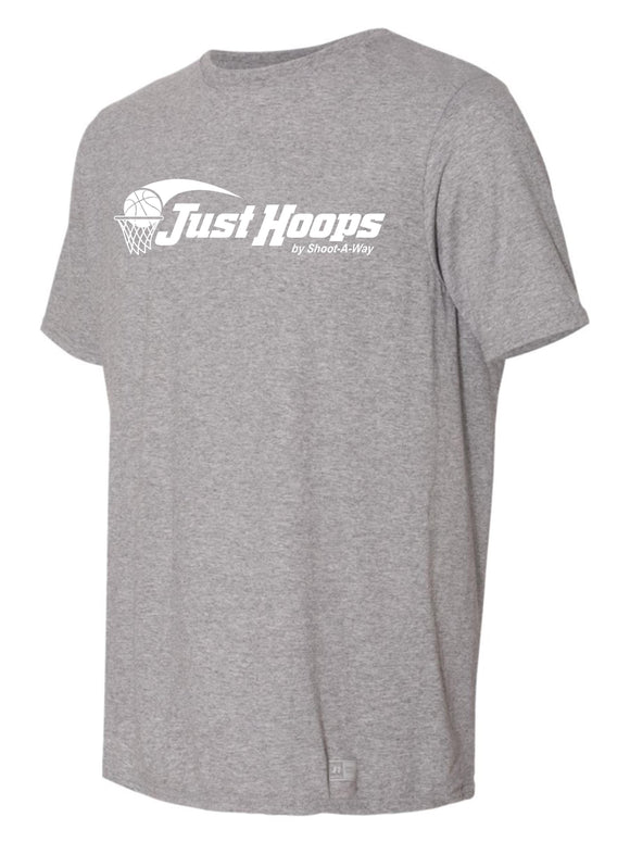 Just Hoops Adult and Youth Tee-Oxford Gray