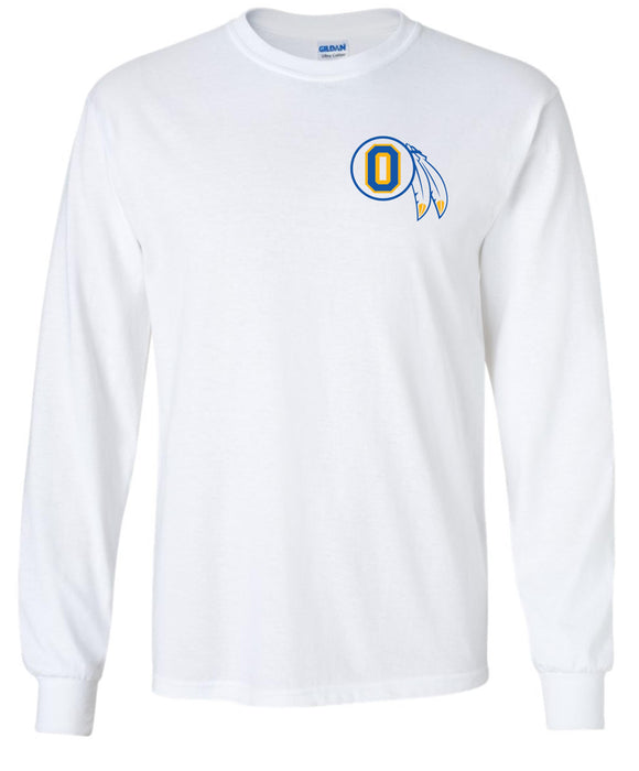 Braves - White Long Sleeve T-shirt with Feather O Logo