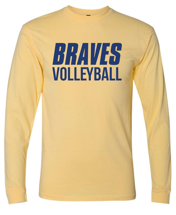 Braves Volleyball Inspired Dye Long Sleeve Tee