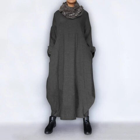 Women Vintage Style Loose Long Dress
