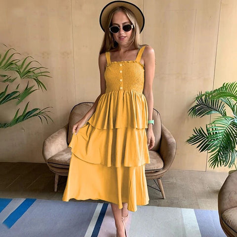 Women's Sundress Midi Summer Beach Dress