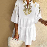 Women Bohemian Sundress Mini Dress