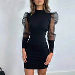 Women's Puff Sleeve Short Party Dress
