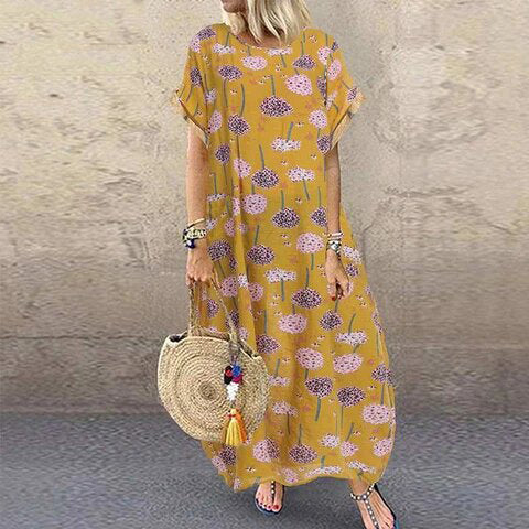 Women Maxi Beach Floral Dress